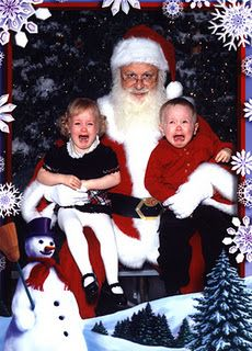 scared of santa-reminds me of my son's & daughter's Santa pic around that same age! LOL