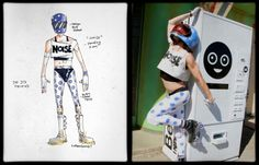 Gerard Way's concept art for the Killjoy character Show Pony, side by side with the final design worn by Ricky Rebel   Make a wish when your childhood dies Tumblr   Explaining the world of the Killjoys in complete and total detail.