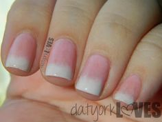 datyorkLOVES: Not So Classic French Tip Gradient Nails