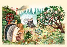Ежик и яблоня - Lovelycards