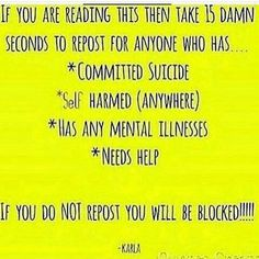 Not for the blocking threat, but so that people who have done any of these know that they are loved.