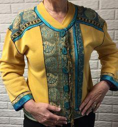 Pashmina Trimmed Sweatshirt Jacket, Ladies Sweatshirt Jacket, Women's Sweatshirt Jacket.  https://www.etsy.com/listing/285598439/pashmina-trimmed-sweatshirt-jacket?ref=shop_home_active_5