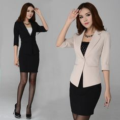 2d77aae65 Aliexpress.com   Buy New 2015 Autumn Winter Fashion Women Workwear Suits  with Skirt Sets · Trajes Formales Para DamaModa ...