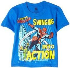 """Swinging Into Action"""""""" Blue Youth T-Shirt"""