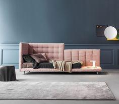 Luxury Designer Alvar Single Bed - Italian Designer Furniture that recalls the fabulous Living Coral PANTONE Color of the Year 2019.