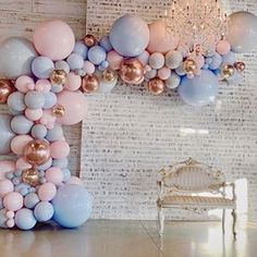 Diese verträumte Babyparty ist 💗 BY: Ballon iDeen 🎈 Deco Baby Shower, Baby Shower Balloons, Shower Party, Baby Shower Parties, Baby Shower Themes, Shower Games, Shower Ideas, Gender Reveal Balloons, Gender Reveal Party Decorations