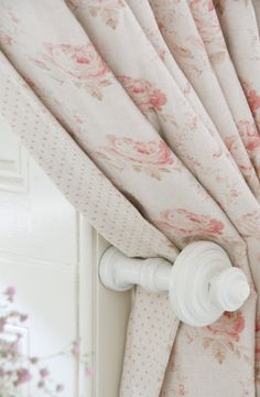 Georgian Roses in Chalky Pink and Sage Dots lining by Peony & Sage Also available in Antique Powder Pink and Dusty Pink. www.peonyandsage.com