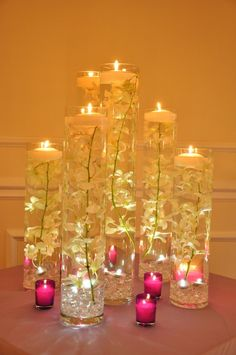 awesome Quince/Wedding DIY Custom Candle Centerpieces Easy & Fun