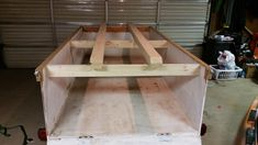 4x8 harbor freight trailer modified for kayak