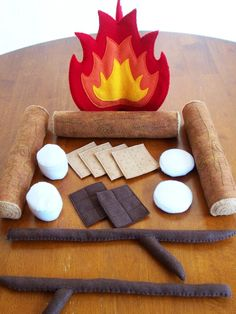 Felt Campfire Eco Friendly Childrens Pretend by feltplayground, $65.00