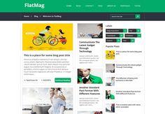 Flat Mag Responsive Blogger Template