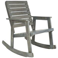 Safavieh Outdoor Alexei Brown Rocking Chair | Overstock.com