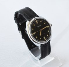 Men's Vintage Watch 1970s Collectibles USSR RAKETA by bestLuba