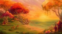 Eversong woods sunset by Simjim91 on DeviantArt