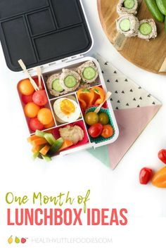 A ton of healthy lunchbox ideas with links to recipes. #lunchbox #lunchboxideas #lunch