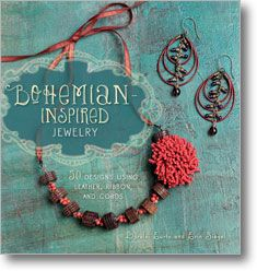 Bohemian-Inspired Jewelry: 50 Designs Using Leather, Ribbon, and Cords - seriously need to get this book. (one of the authors blogs at http://erinsiegeljewelry.blogspot.com/2012/06/bohemian-inspired-jewelry-blog-party.html)