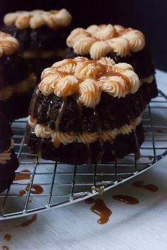 Guinness Stout Mini Bundt Cakes with Baileys Buttercream
