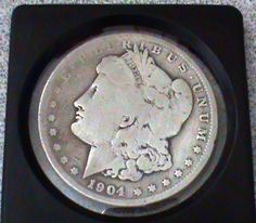 1904  MORGAN SILVER DOLLAR 90% SILVER RARE KEY DATE Philadelphia Mint
