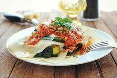 Free-Form Vegetarian Lasagna recipe from Bev Cooks