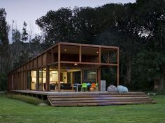 Obvious but rarely done – taking the glass box house and doing it in wood   CribcandyThe Best from Household and Interior Design Blogs Around the World, Every Day