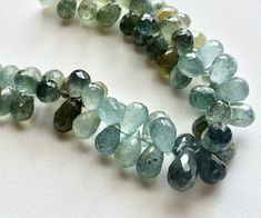 Moss Aquamarine Beads Moss Aquamarine Faceted by gemsforjewels