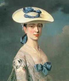 """Known as a """"Bergere"""" (shepherdess in French) it is tied with a ribbon at the back of the head Bergere, shepherdess straw hat"""
