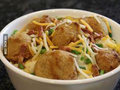 KFC Loaded Potato Bowl Made at home