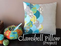 Clamshell pillow via Stitched in Color
