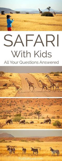 Everything you may want to know about going on an African safari with kids. Can I take a 2 year old on a game drive? Is it possible to find a malaria-free family-friendly safari experience?  What to wear and what to pack... Find answers to these and other frequently asked questions in this post!