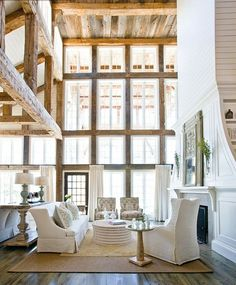 Barbara Garfield Design. bensonwood homes, barn, farmhouse architecture style, farm architecture, new bar
