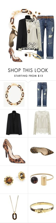 """""""Leopard Print Accents"""" by hope-houston ❤ liked on Polyvore featuring Ann Taylor, Current/Elliott, Jessica Simpson, Kate Spade, Michael Kors and Dorothy Perkins"""
