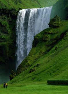 Skogafoss Waterfall, Iceland. I visited here in 1972 while stationed at Keflavik with the US Navy.