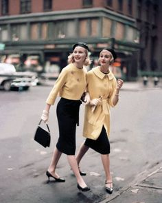 Condé Nast Archive, 1958. What a wonderful glimpse of '50's New York!