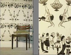 Erotic Chandelier Nude Naked Wall Paper - Women and Men in Elegant Party Attire swinging from chandeliers in Art Deco Flapper Outfits. All DW patterns may be available on commercial vinyl. Please inquire. Luxury Wallpaper, Home Wallpaper, Designer Wallpaper, Custom Wallpaper, Thing 1, Wall Patterns, Wallpaper Patterns, Halloween Wallpaper, Vintage Halloween