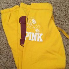 ASU VS Pink Sweatpants Drawstring sweatpants, no pockets, no trades please PINK Victoria's Secret Pants Track Pants & Joggers