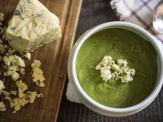sopa de ervilha com gorgonzola - dedo de moça