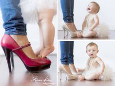 6 month baby girl photo session with mommy