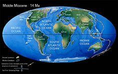 Afbeeldingsresultaat voor miocene world map