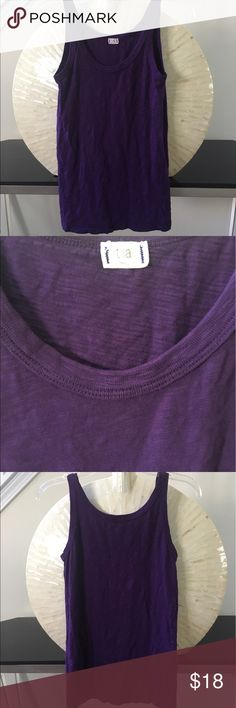 Purple Anthropologie tank top In excellent condition! Gorgeous true purple tank top by t.La for Anthropologie. 100% cotton. I also have this top in green and pink listed in my closet. Make an offer or bundle for 15% off. Thanks for looking.💕 Anthropologie Tops Tank Tops