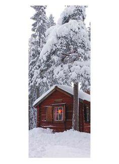 Hütte im Wald Motivdruck