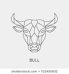 Stockfoto- and Stock Image portfolio Marinika Geometric Drawing, Geometric Art, Geometric Tattoo Animal, Animal Tatoos, Toros Tattoo, Abstrakt Tattoo, Taurus Tattoos, Head Tattoos, Zodiac Symbols