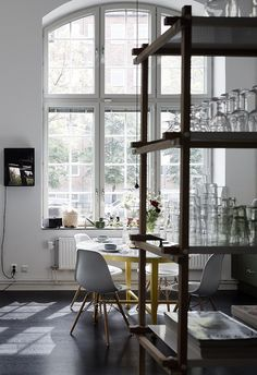 Industrial style duplex home - via Coco Lapine Design blog