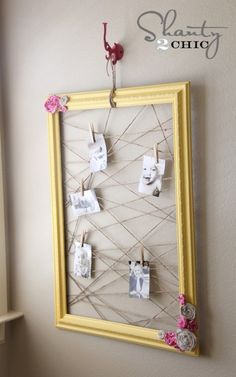 creative way to display lots of pictures!