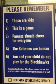 Twitter / @ darrenrovell: Great sign at Chicago youth hockey rink Youth Hockey, Hockey Mom, Soccer, Funny Hockey, Hockey Stuff, Hockey Rules, Field Hockey, Volleyball, Funny Sports
