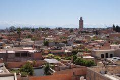 Depuis le palais du Jardin Secret de Marrakech. Marrakech, Le Palais, Parcs, Paris Skyline, Travel, Water Management, Nice View, Viajes, Destinations