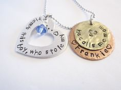 Mother/Son Necklace Personalized Hand by ChristinesImpression