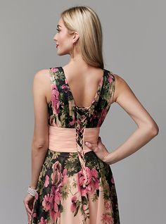 Evening Dresses Online, Cheap Evening Dresses, Prom Dresses, Aso Ebi Lace Styles, Print Patterns, Pattern Print, Floral Chiffon, Gowns, Couture
