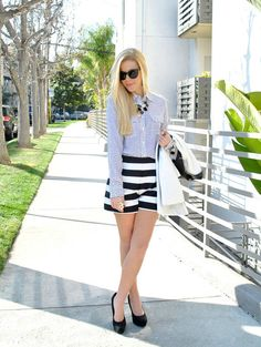 how to wear the black and white trend for spring