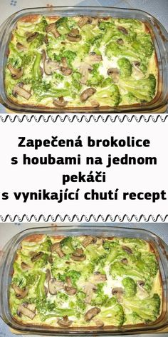 Czech Recipes, Vegetable Recipes, Sprouts, Green Beans, Food And Drink, Low Carb, Vegetarian, Vegetables, Cooking