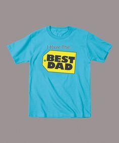 Look at this #zulilyfind! Electric Blue 'Best Dad' Tee - Toddler & Kids by LC Trendz #zulilyfinds